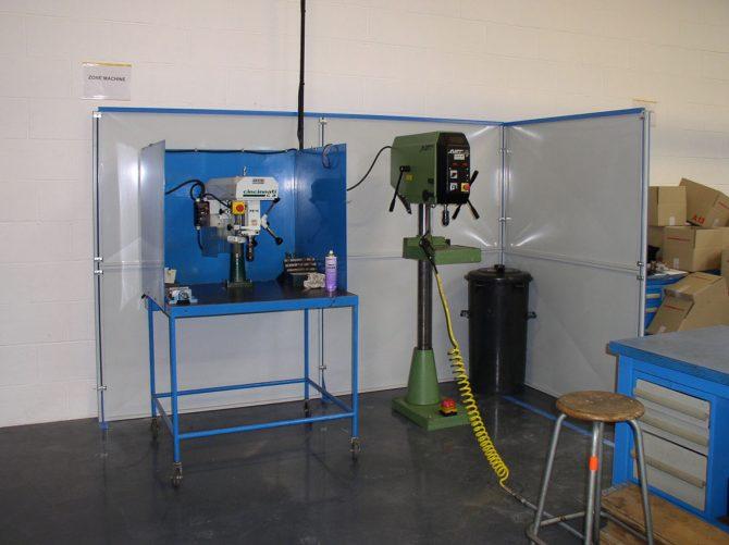 Cloison tôlée pour sécurisation machines