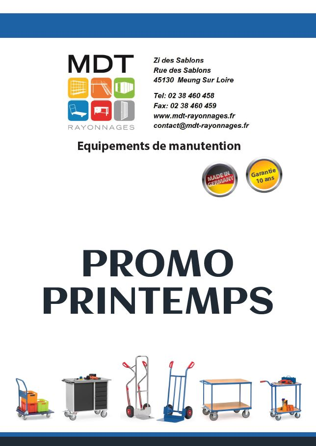 Promo printemps manutention