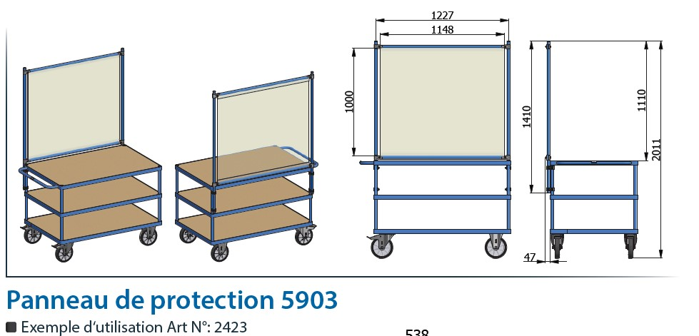 Covid 19 : Panneaux de protection anti-infection